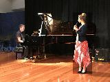 Felicity McCowan sang Slipping Through My Fingers from Mamma Mia, accompanied by Wade Gregory.