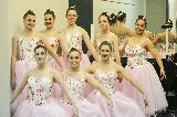 The ballet dancers from Daphne Learoyd School of dance, who performed for Strauss' Waltz of the Flowers, and also in the finale, Carl Orff's O Fortuna, from Carmina Burana