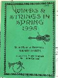 Front cover for the program of Winds and Strings in Spring, 1998 in Westside PAC Mooroopna