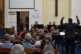 Steven Sargant, as new conductor of GVCO, seen here conducting GVCO at the Bushfire Appeal Concert held in Chapel on Maude on Saturday 21st Feb 2020.